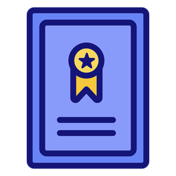 Graduation ribbon icon