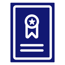 Graduation ribbon icon blue