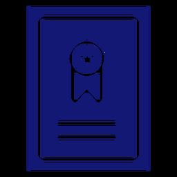 Graduation ribbon icon blue