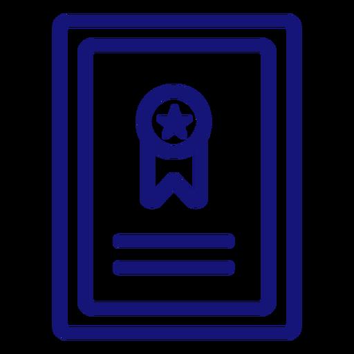 Graduation ribbon icon stroke Transparent PNG