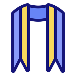 Graduation sash icon