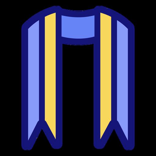Graduation sash icon Transparent PNG