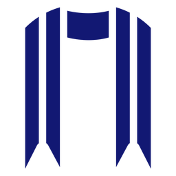 Graduation sash icon blue