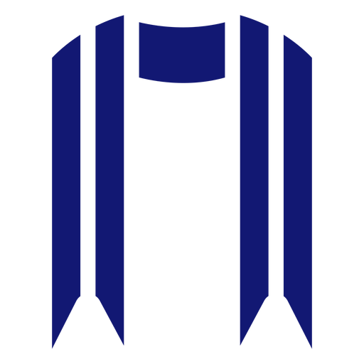 Graduation sash icon blue Transparent PNG
