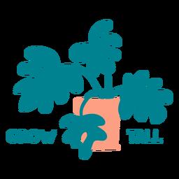 Crecer insignia alta