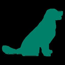 Silhueta de cachorro feliz