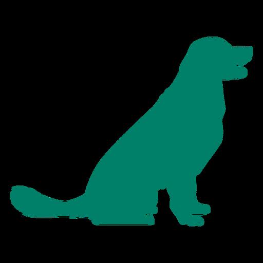 Happy dog silhouette