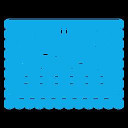 Feliz graduación papercut garland