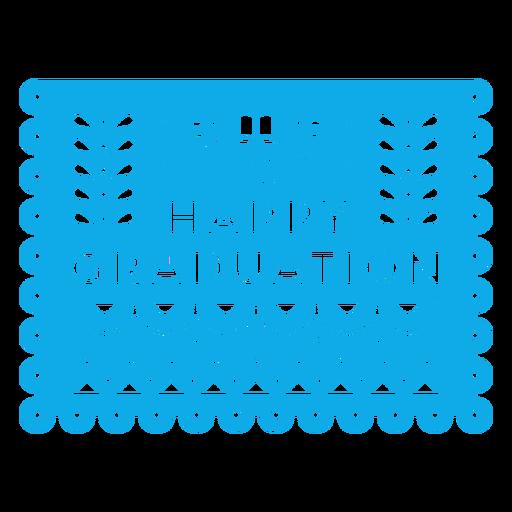 Guirnalda de feliz graduación papercut