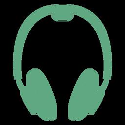 Fones de ouvido liso verde