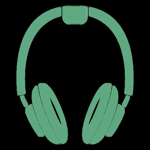 Headphones flat green