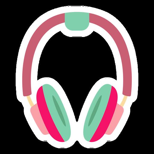 Headphones flat sticker Transparent PNG