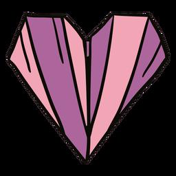 Ilustración de origami de corazón