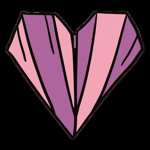 Ilustración de origami de corazón Transparent PNG