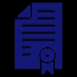 Icon Diplom Abschluss blau