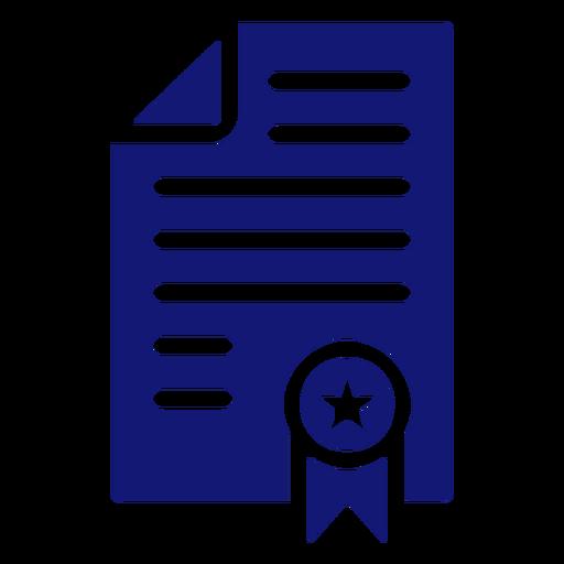 Icon diploma graduation blue Transparent PNG