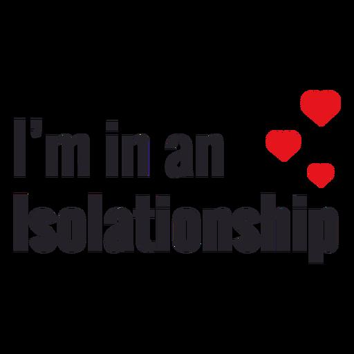 Estou em uma rotulação de isolamento