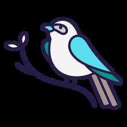 Indigo bunting bird flat