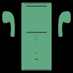 Auriculares para iPod verde plana
