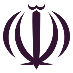 Emblema nacional de Irán negro
