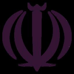 Iran national emblem black