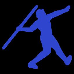 Speer werfen blau