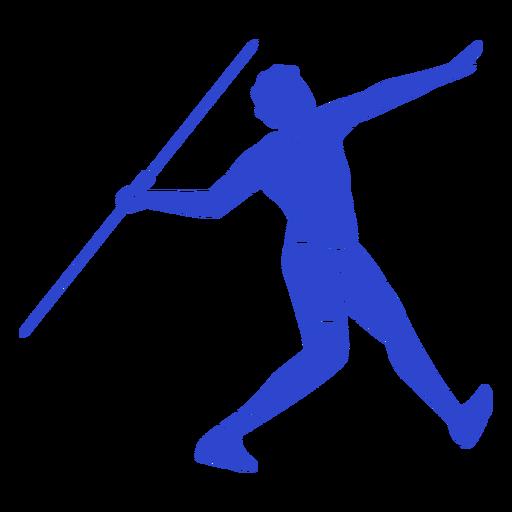 Lançamento de dardo azul