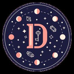 Letter d magic banner