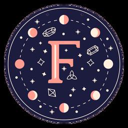 Bandeira mágica de letra f