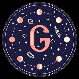 Letter g magic banner