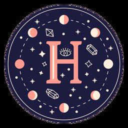 Letter h magic banner