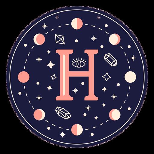 Banner mágico de letra h Transparent PNG