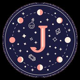 Banner mágico de letra j