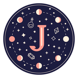 Letter j magic banner