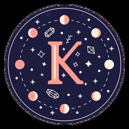 Banner mágico de letra k