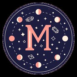 Bandeira mágica de letra m