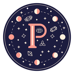 Bandeira mágica de letra p
