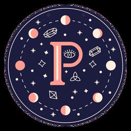 Letter p magic banner