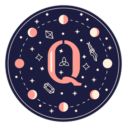 Letra q banner mágico