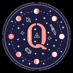 Letter q magic banner