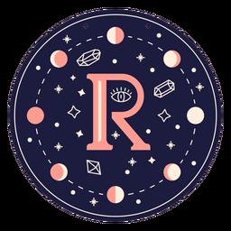 Letter r magic banner