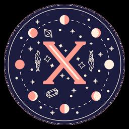 Letter x magic banner