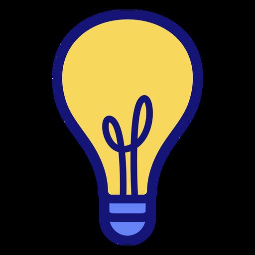 Ícone de traço de lâmpada