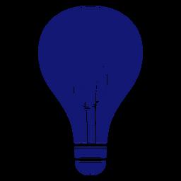 Icono de trazo de bombilla azul