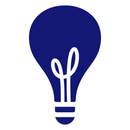 Lightbulb stroke icon blue