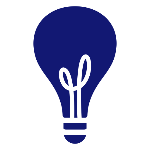 Lightbulb stroke icon blue Transparent PNG