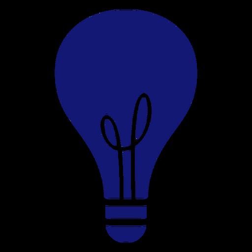 Lightbulb stroke icon blue