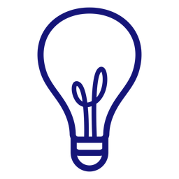 Lightbulb stroke icon stroke