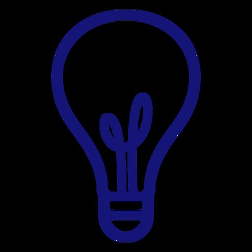 Lightbulb stroke icon stroke
