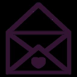 Carta de traço de carta de amor